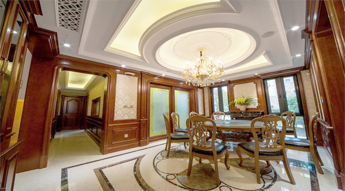 坤庭客厅护墙板·美式风格图片