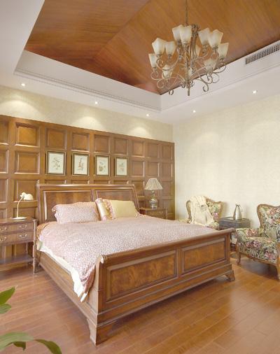 美式经典-天花吊顶及木饰面护墙板