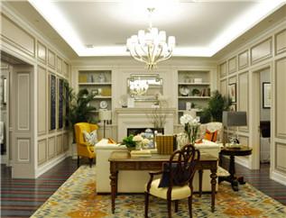 简欧式-客厅整体木作定制