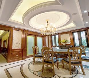 坤庭客厅护墙板·美式风格