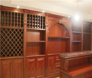 柚木-整体酒柜