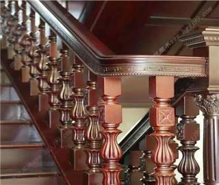 欧式-定制实木楼梯